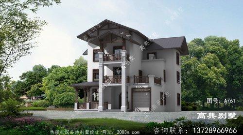 农村欧式三层别墅楼房设计图