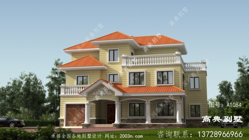 三层舒适别墅楼房设计图