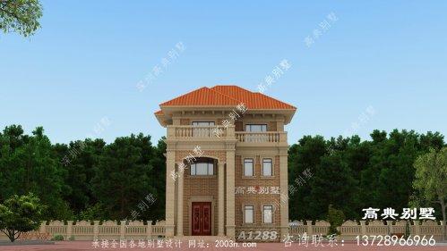 经典美观的欧式三层别墅,适合占地小自建
