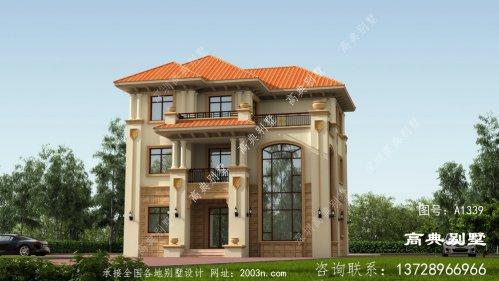 清新自然的意大利风格复式三层别墅图纸