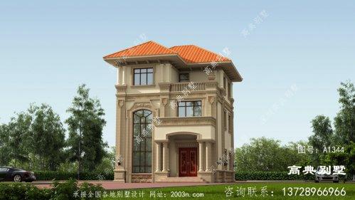 引人注目的三层意大利风格别墅效果图