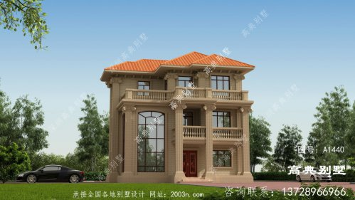 室内布局合理实用的欧式风格三层别墅