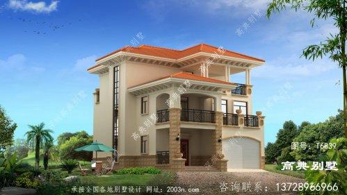 欧式风格三层别墅外观效果图