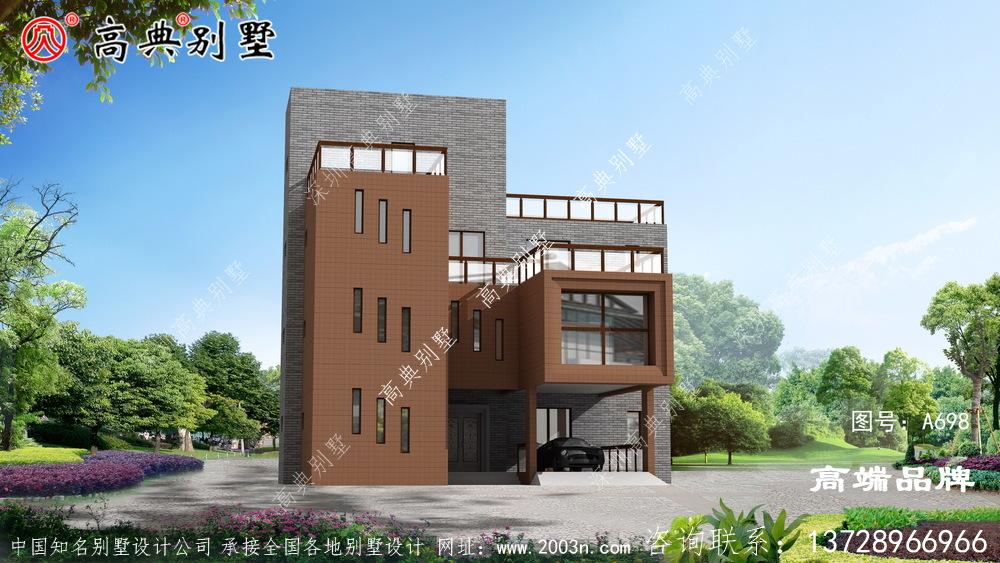 豪华四层现代别墅设计