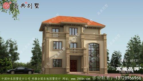 欧式古典三层复式别墅设计图片大