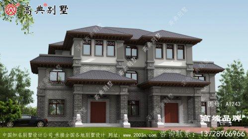 中式风格双拼别墅