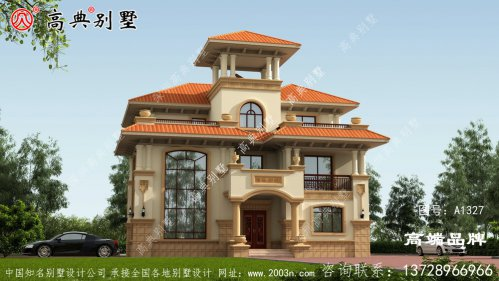 富丽堂皇的欧式风格三层别墅设计