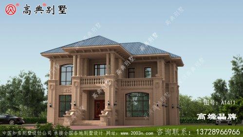 二层豪华欧式别墅外型