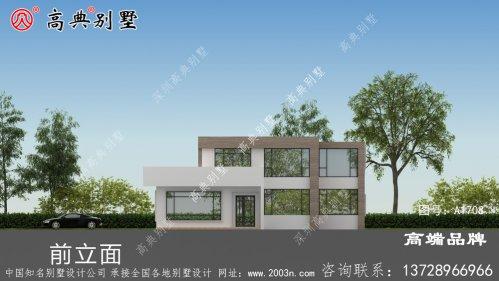 农村自建现代两层住宅设计图