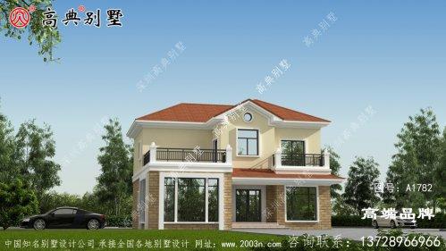 新农村两层欧式别墅设计图纸