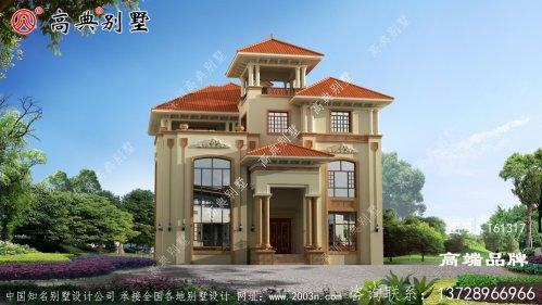欧式三层复式别墅设计图纸