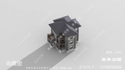 气质淡雅的中式风格别墅效果图