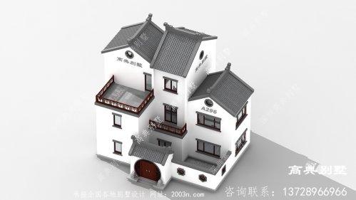 经济实用又美观的新中式三层别墅