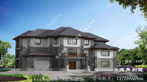 庄重优雅的三层中式别墅设计图