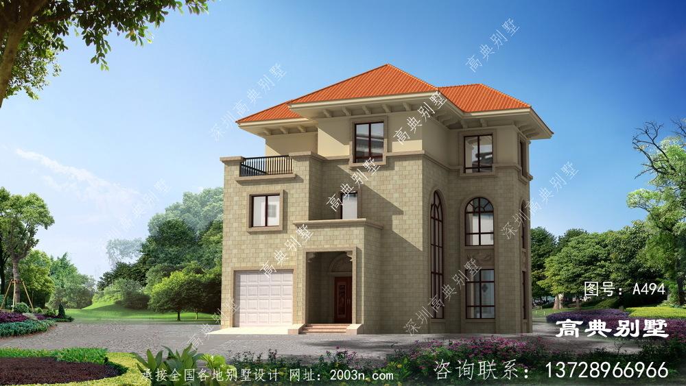 精致大气的农村三层欧式风格别墅设计图