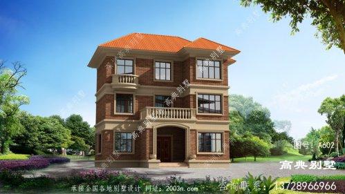三层农村别墅房屋外观效果图