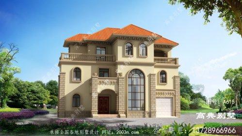 大户型房子三层欧式别墅设计图