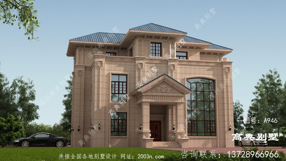 欧式风格石材别墅效果图