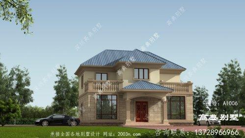 欧式风格两层别墅新农村自建别墅