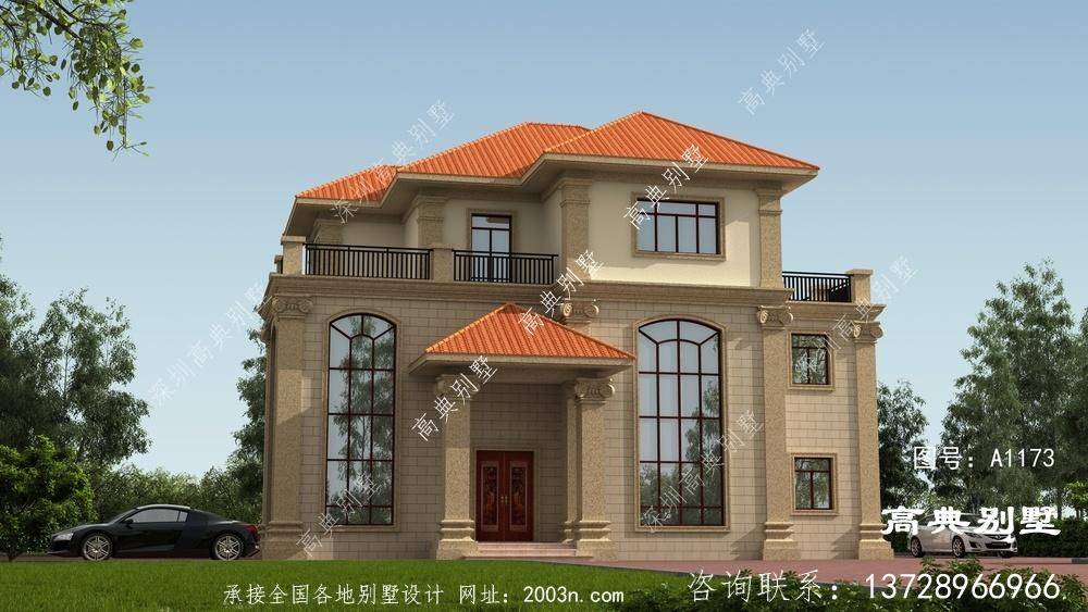 三层的农村自建欧式别墅设计图