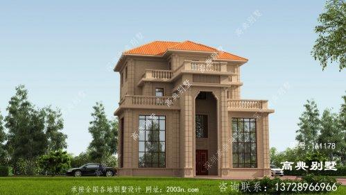 四层别墅外观设计效果图,自建首