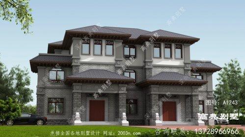 中式风格双拼别墅宏伟壮观