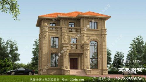 中意欧式石材别墅图纸