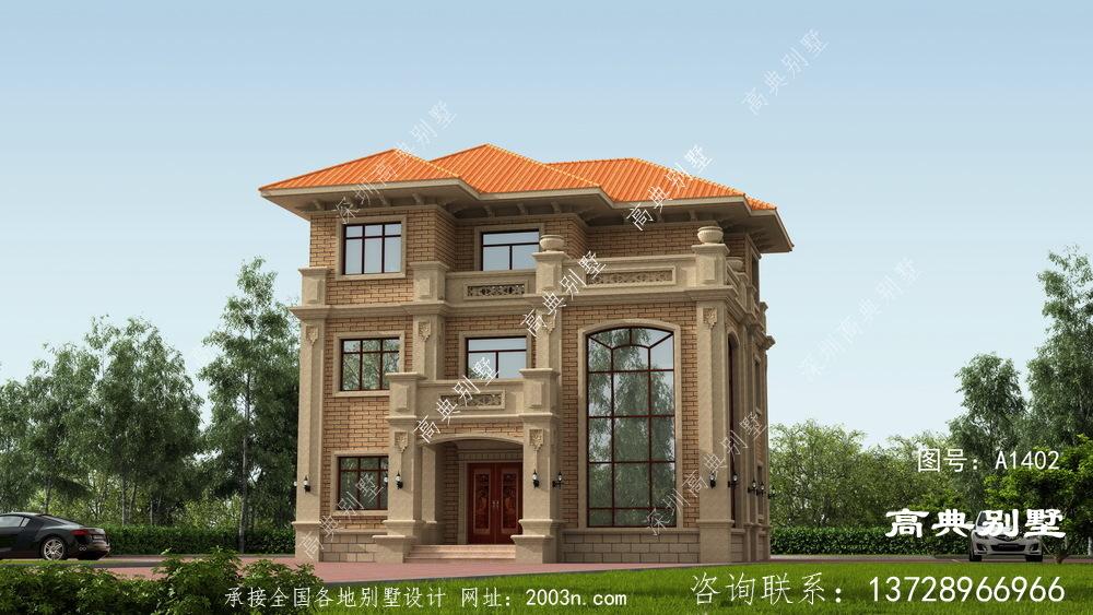 复式的欧式石材别墅