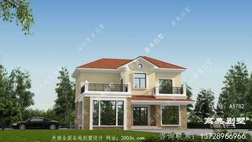 新农村两层欧式别墅效果图