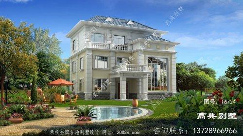 漂亮大气的欧式三层别墅设计大全