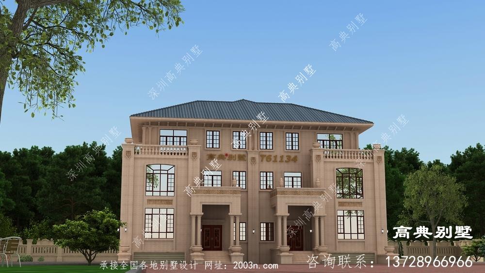 布局温馨实用的意大利风格石材别墅