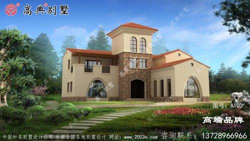 三层农村别墅的设计图,外观简单别致