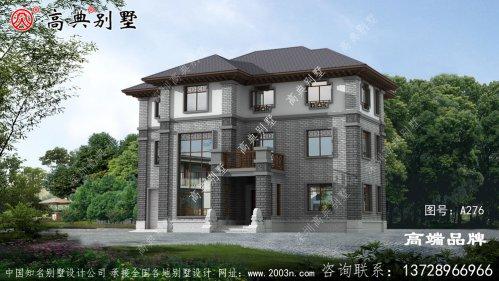 乡村新中式三层别墅房屋图