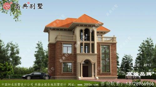 三层别墅样式设计图纸,外型大气稳重