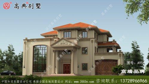 欧式三层复式别墅设计图及效果图