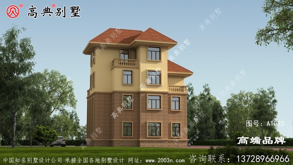 新农村自建四层简欧风格别墅设计平面图纸