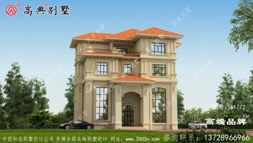 欧式淡雅大气四层复式别墅设计图