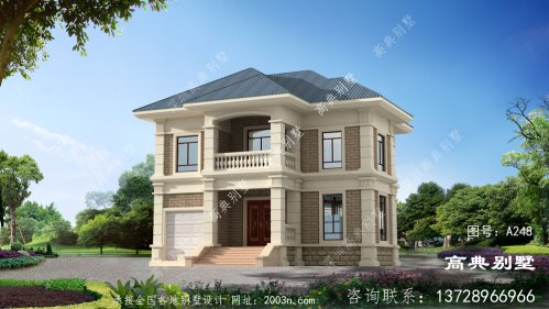 布局实用大气的欧式风格两层别墅