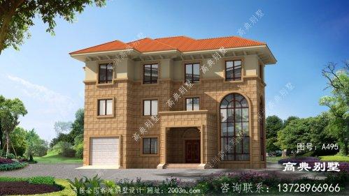性价比高的欧式风格三层别墅设计图