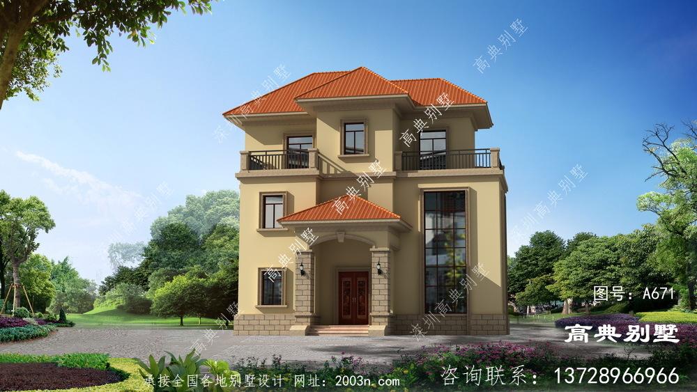 经典奢华欧式三层别墅外观设计精致典雅