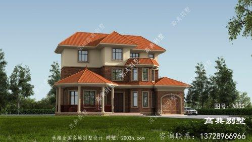 欧式风格三层别墅豪宅外观设计图片