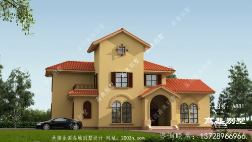 农村两层欧洲豪华别墅建设设计图