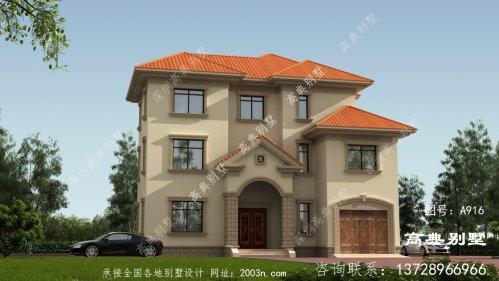 清新自然的欧式风格三层现代别墅