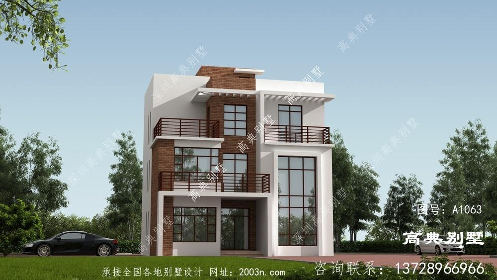 现代简约风三层复式别墅设计图纸