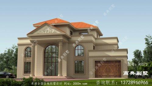 高档复式三层欧式别墅设计图纸及效果图