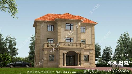 欧式风格三层宏伟别墅设计图纸