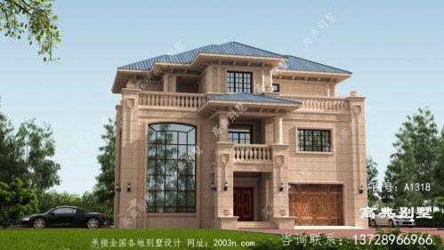 高贵三层欧式石材别墅自建设计图