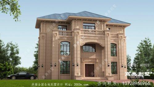 欧式风格三层石材别墅设计图及效果图