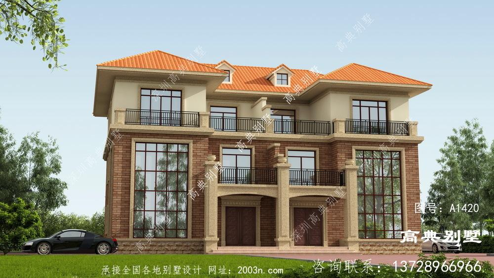 建别墅最关键的是什么?当然是高档的复式落地窗了。