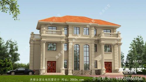 双拼别墅配复式设计,唯美的落地窗高端大气